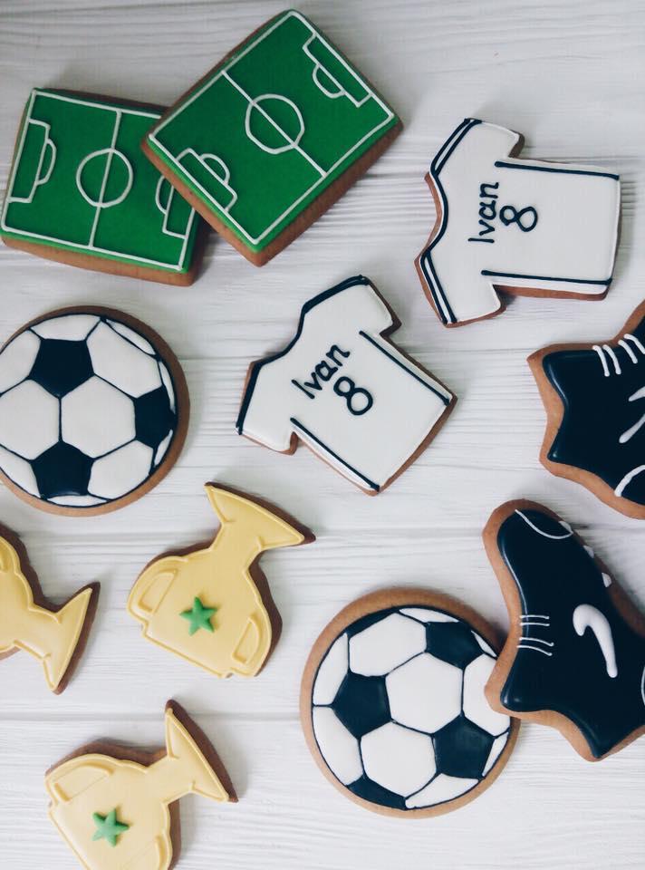 печенье футбол