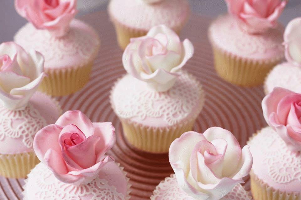 капкейки с розами