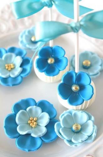 синие кейк попсы