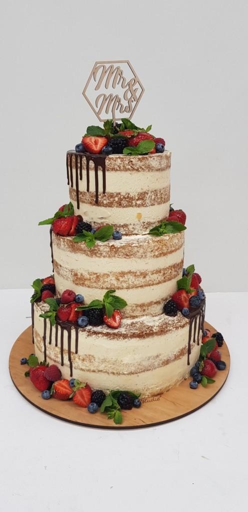 свадебный торт открытый