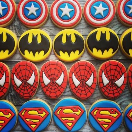 печенье супергерои