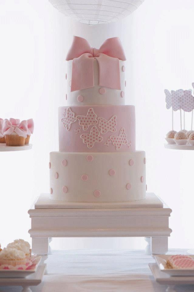 торт с бантом