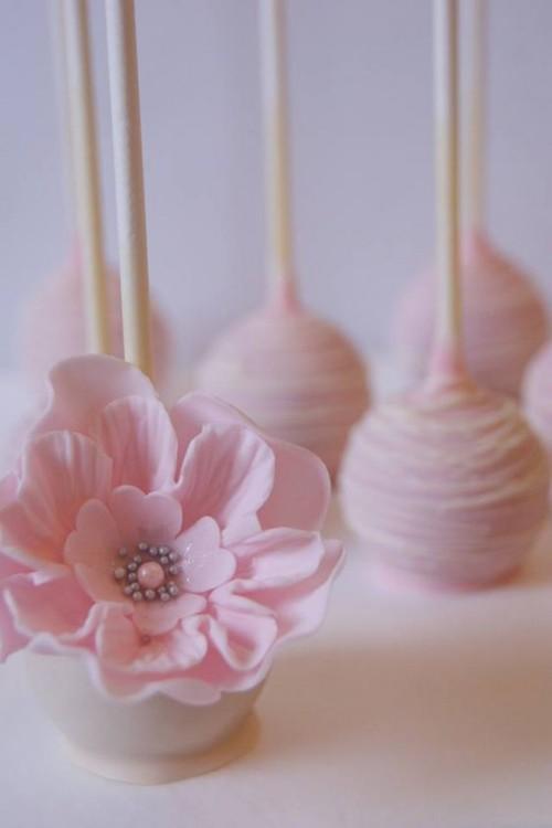 кейк попс с цветами