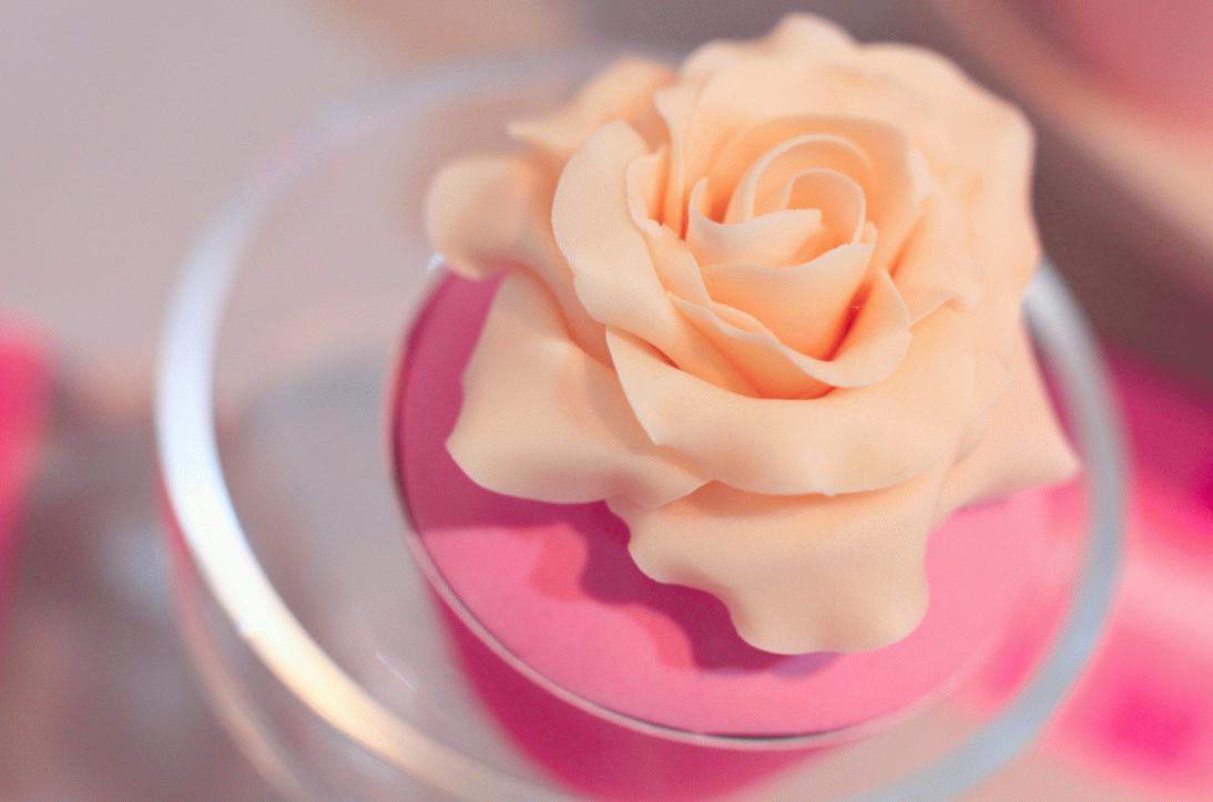 капкейк с цветком