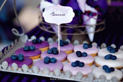 печенье с голубикой