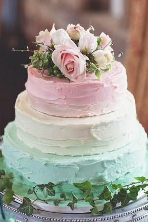 Cвадебный торт в креме