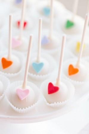 кейк попс с сердечком
