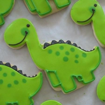 печенье динозавры