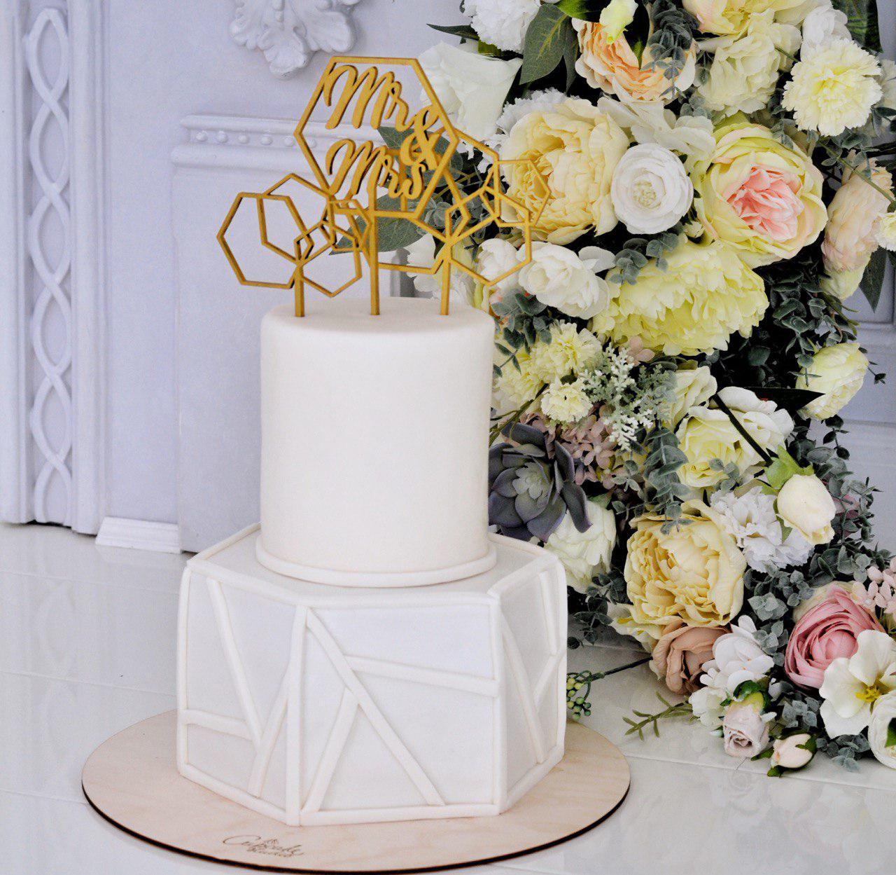 свадебный торт геометрия
