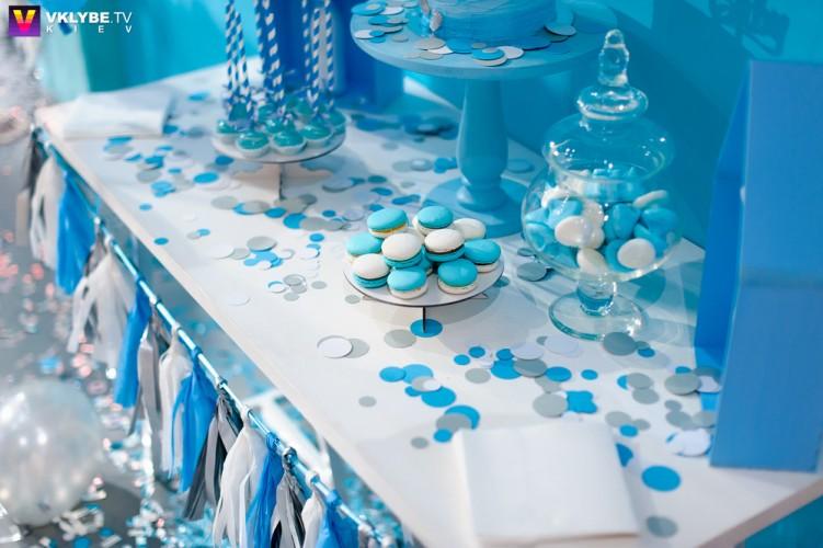 синие макаруны