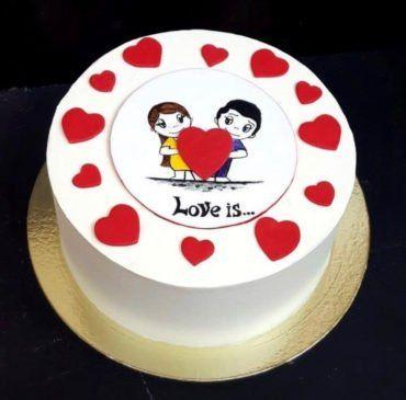 Свадебный торт в стиле love is