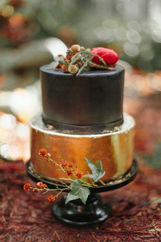 осений свадебный торт