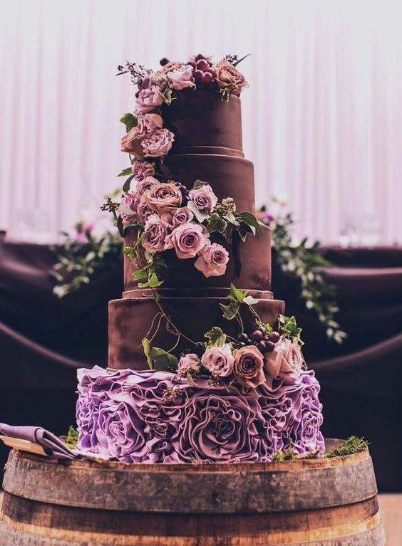 свадебный торт с шоколадом