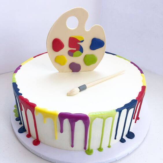 торт с палитрой
