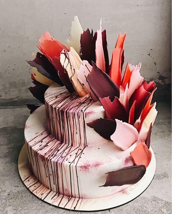 торт с мазками