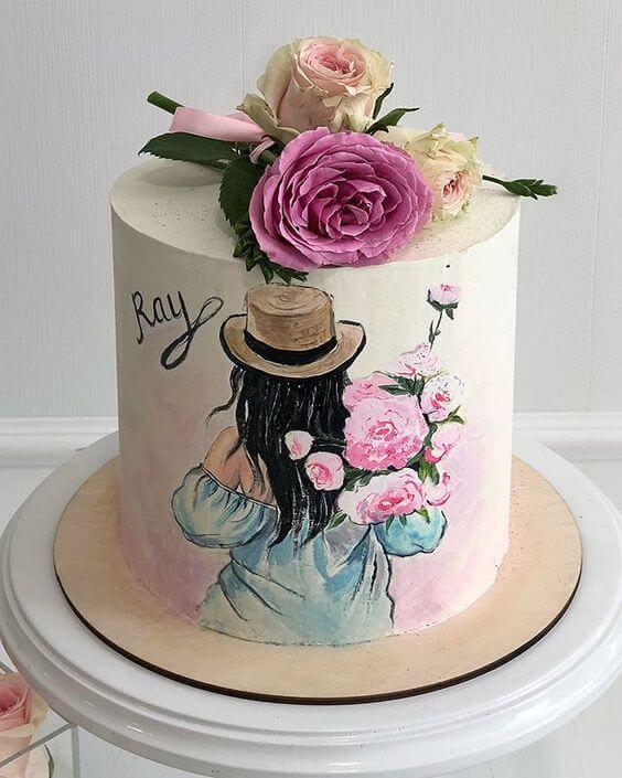 торт с рисунком