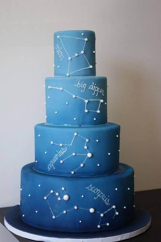 торт с созвездиями