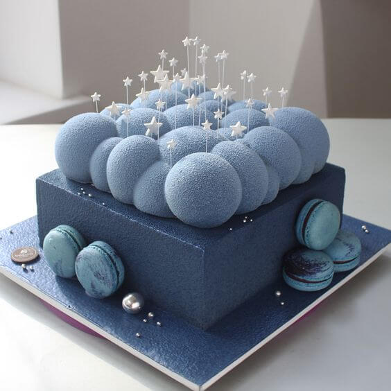 торт со звездами