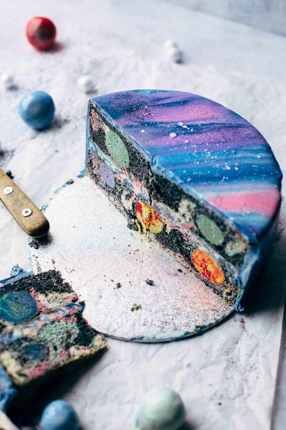 торт з планетами