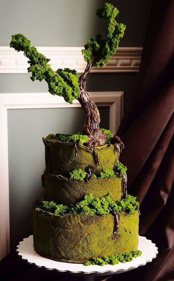 торт с деревом