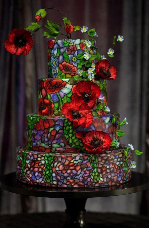 витражный торт