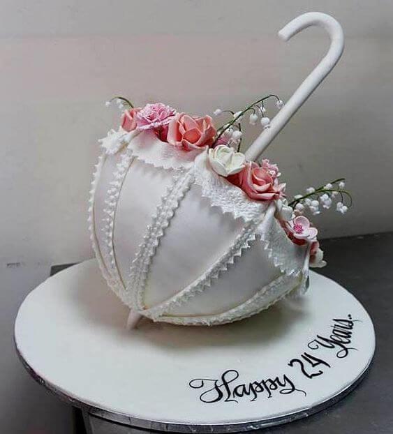 необычный торт с цветами