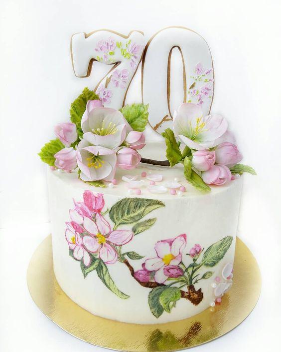 торт на 70 років