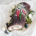 """Праздничная выпечка: французский торт """"Рождественское полено"""""""