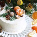 Как сделать красивый новогодний торт своими руками