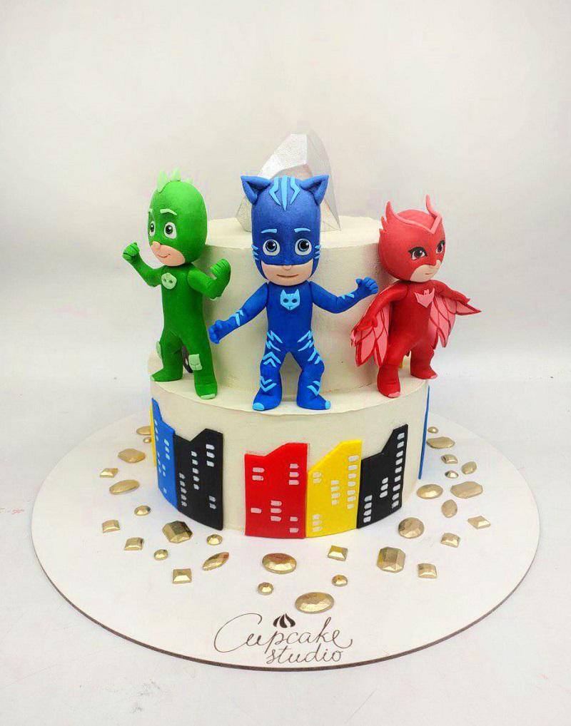 Детский тортик с супергероями