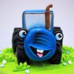 Самый популярный торт для сына: «Синий трактор» и его компания