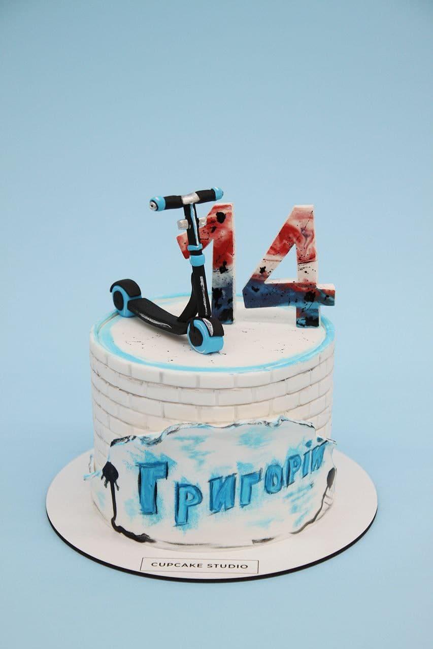 торт самокат на 14 лет