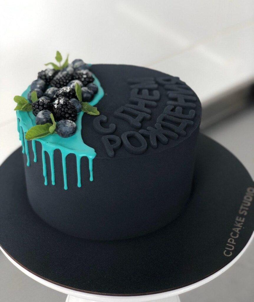 Торт для папы с фруктами
