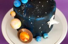 Торт синий космос