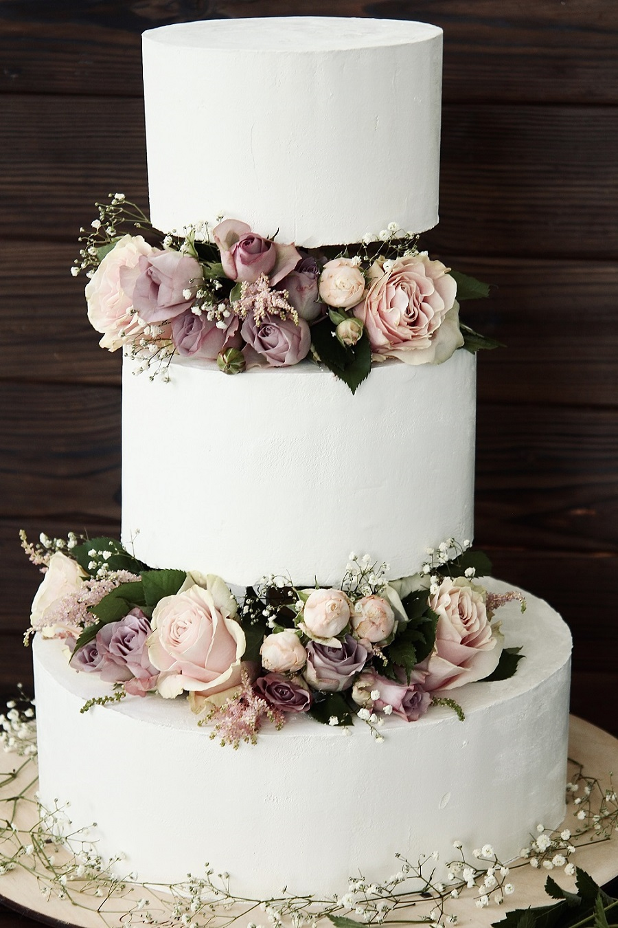 Свадебный торт в три яруса