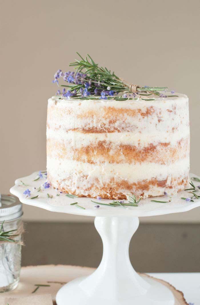 Торт с лавандой