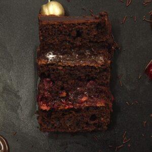 Подвійний шоколад з вишневим фламбе