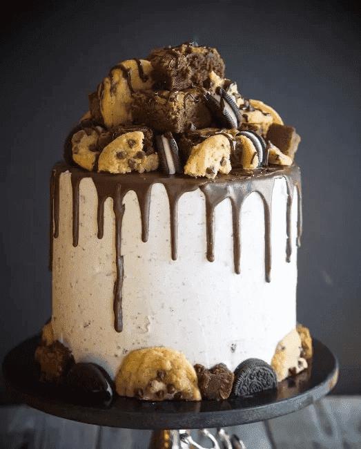 Торт с печеньем брауни и орео