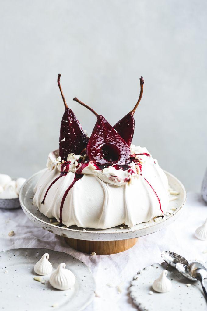 Грушевый торт-безе