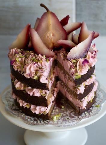 Торт с грушей и нежным кремом