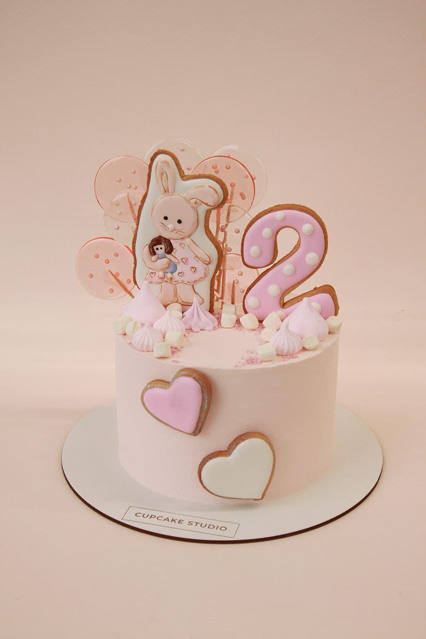 Торт с зайкой на 2 года для девочки