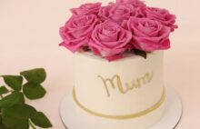 Торт корзина роз для мамы