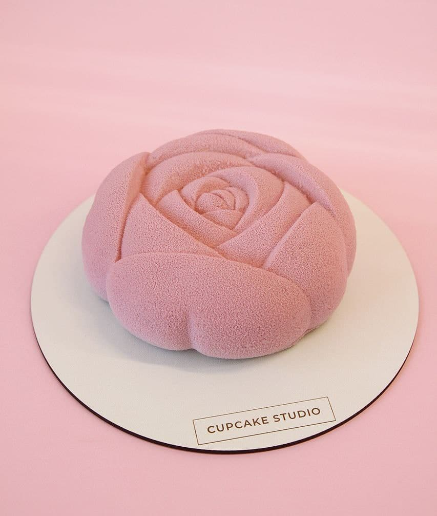 Муссовый торт цветок