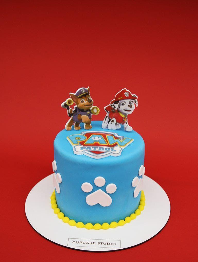 торт с щенячьим патрулем