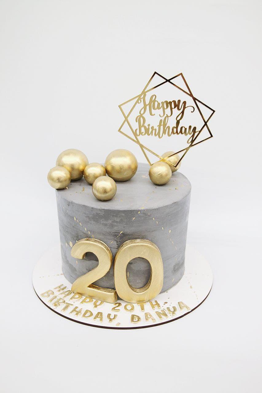 торт на 20 лет для парня