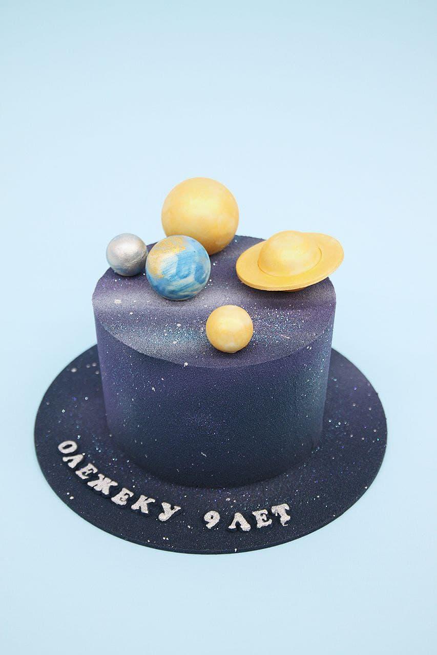торт космос с планетами