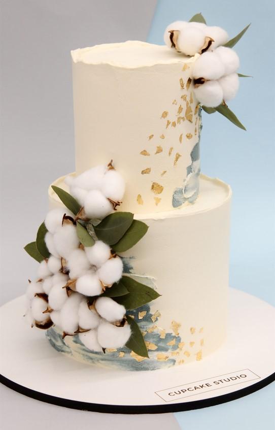 свадебный торт с хлопком