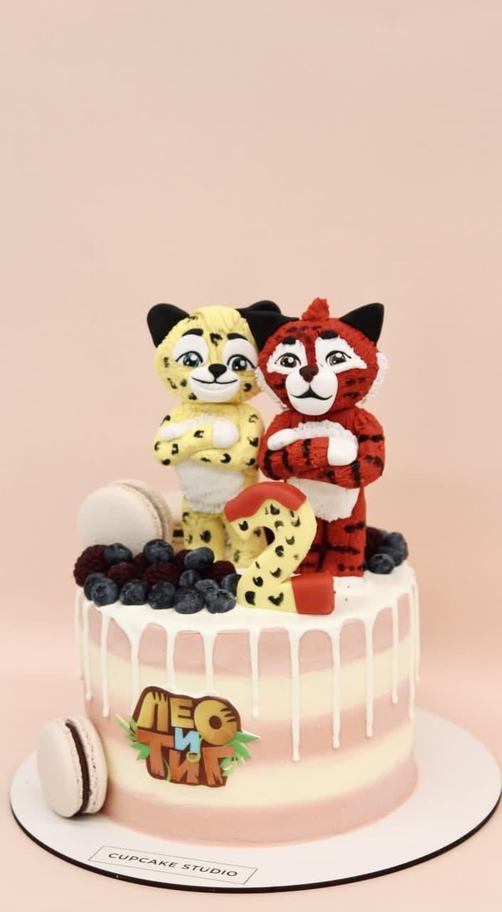 детский торт лео и тиг