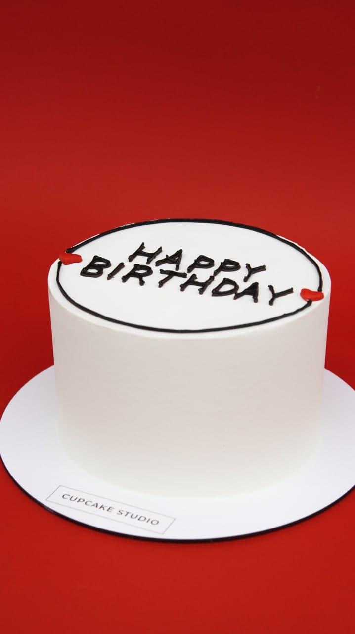 торт в стиле минимализм на день рождения